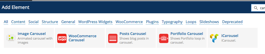 Add Element Carousel