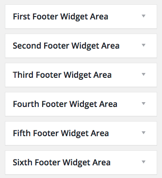 Standard Website - Footer Widget Areas