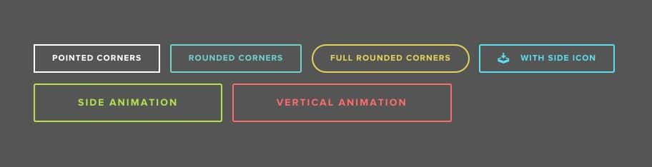Outlined Buttons Web Design Trends
