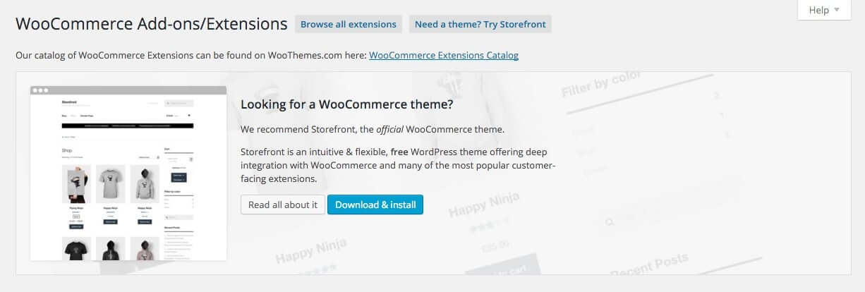 Woocommerce Options - Add-ons