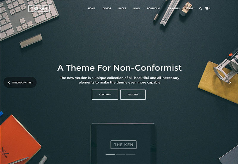the ken wp theme-run event websites with wordpress