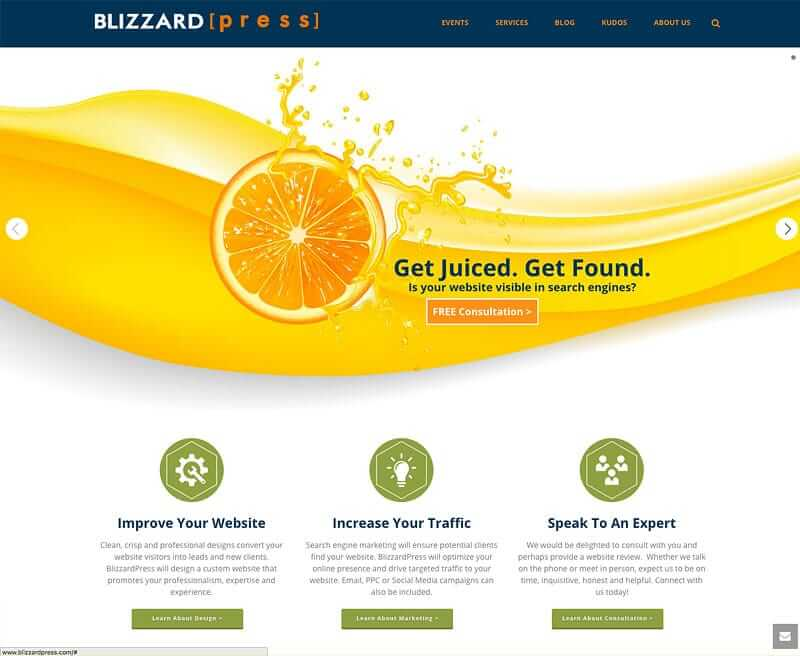 blizzardpress- wordpress theme