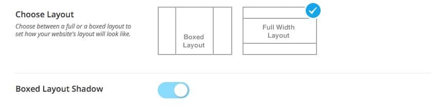 Override Theme Settings Layout