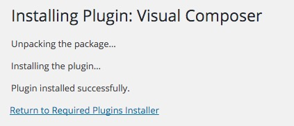 Update Visual Composer Install