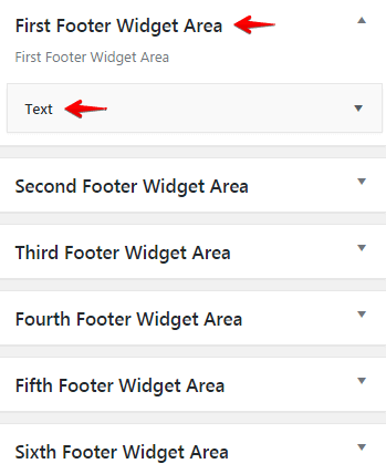 Configuring logos - Footer Widget Areas
