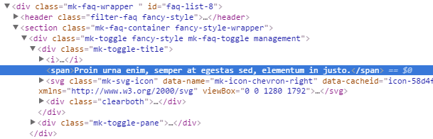 Adding custom CSS in the page settings - HTML structure