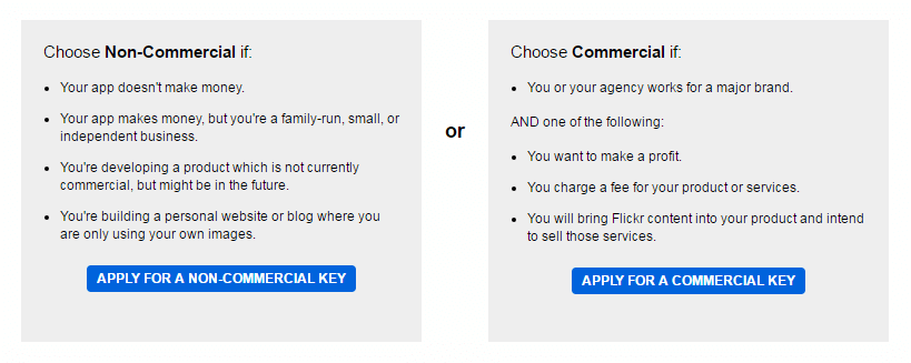 Flickr feeds shortcode - choose key