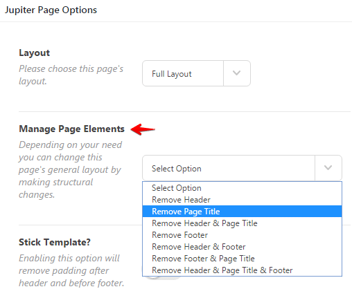 Configuring page title - remove page title