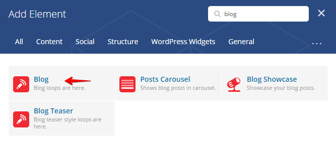 Displaying blog posts - add element