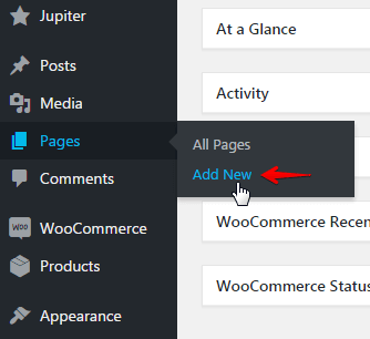 Displaying product posts - add new page