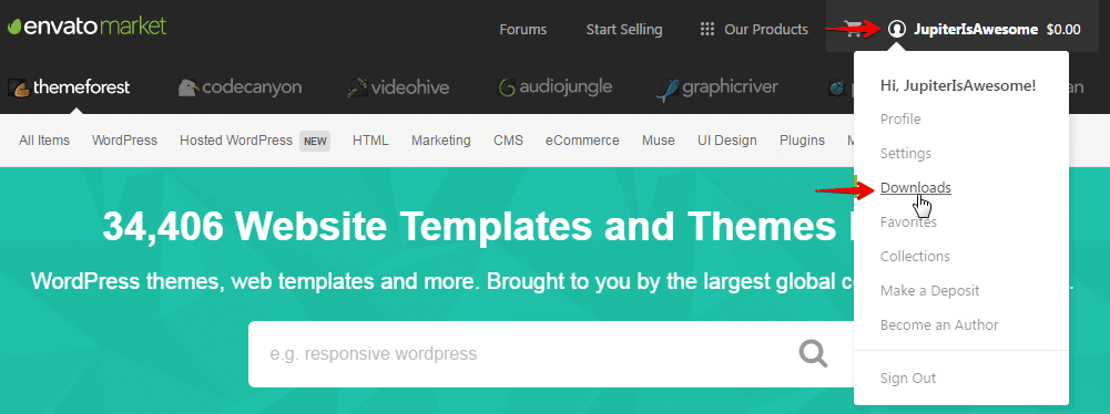 Extending support subscription - themeforest downloads