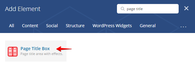 Page title box shortcode - shortcode search