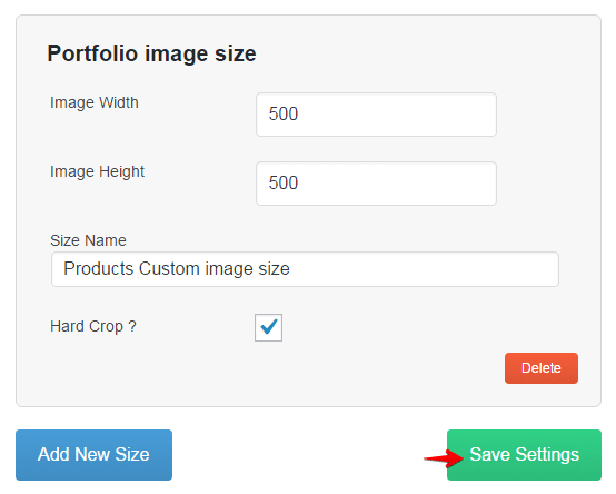 Products shortcode - custom image size