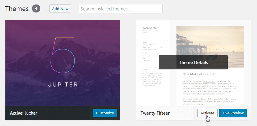 Updating theme and child theme - temporary activate