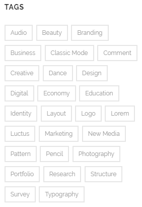 Configuring tags - tag cloud widget