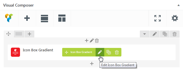 Icon Box Gradient shortcode - edit Icon Box Gradient