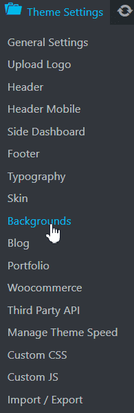 background settings
