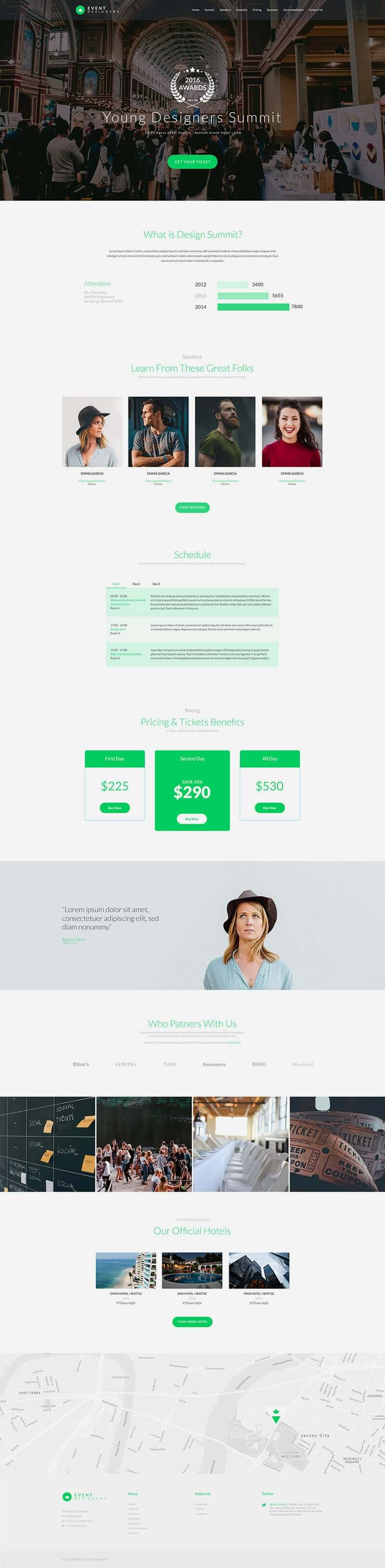 free Event website template Full Page