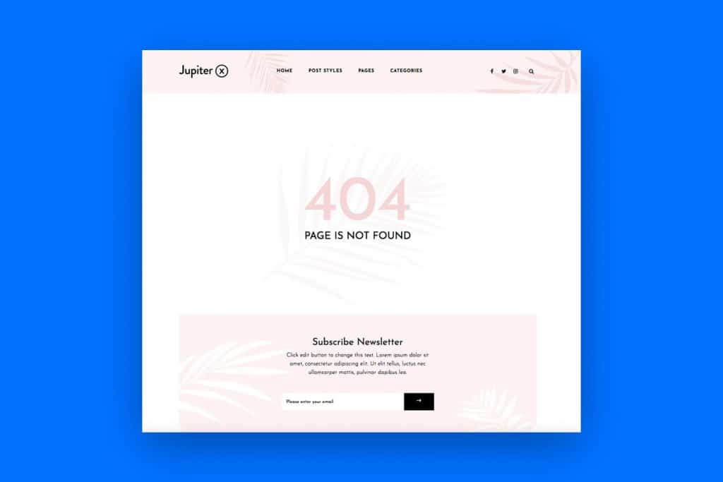 how to create custom 404 pages with Jupiter X featured image
