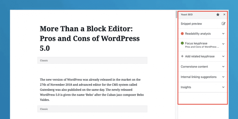 Pros and Cons of WordPress 5.0 Con 1