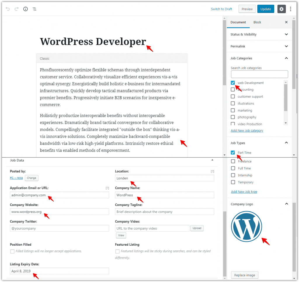 Create a Job Board in WordPress Screenshot 3