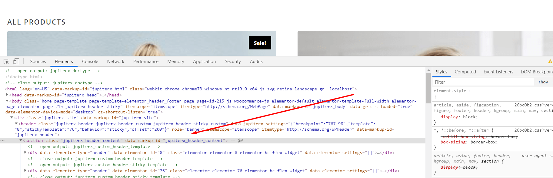 Adding wrap inner HTML tag for a specific element (jupitex_wrap_inner_markup)