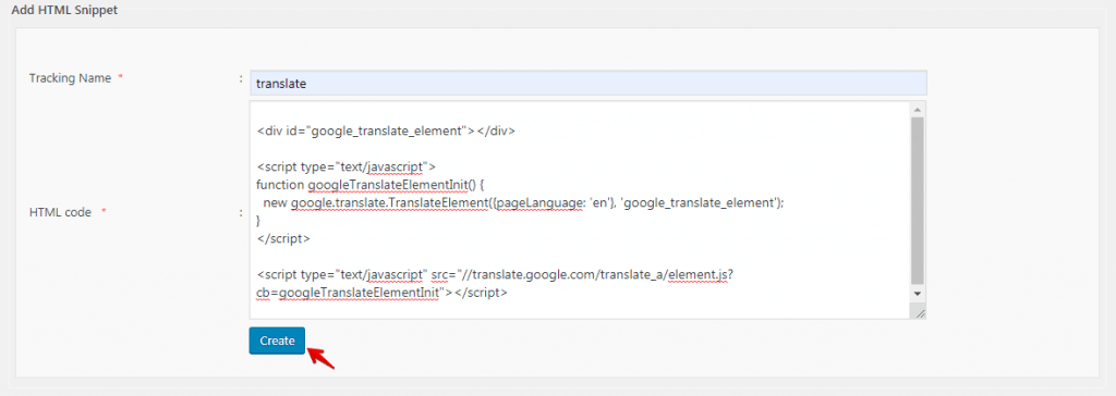 Custom Code Snippets in WordPress - HTML Code Snippets 3