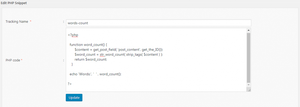 Custom Code Snippets in WordPress - PHP Code Snippets 3