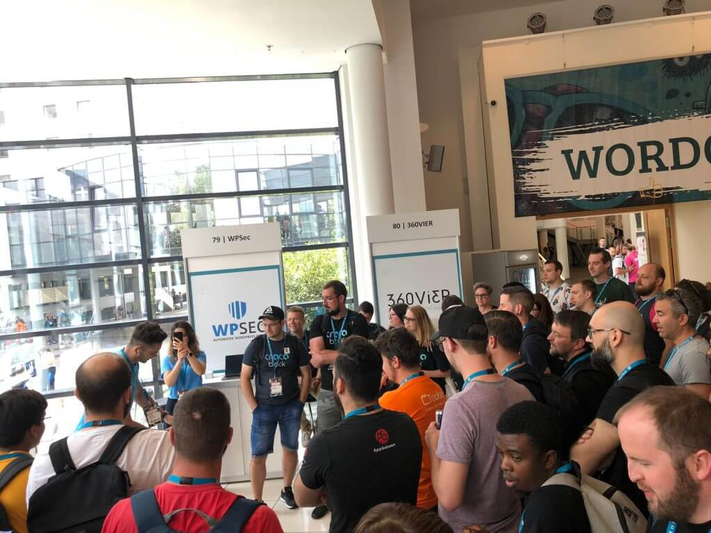 WordCamp Europe 2019 - Jupiter X Booth