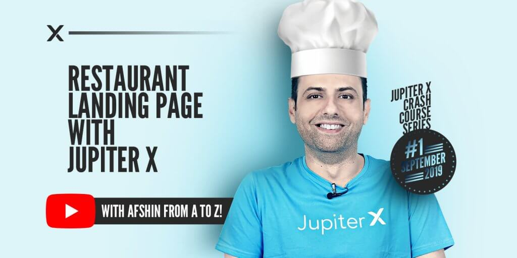 Restaurant Landing Page with Jupiter X Featured Image