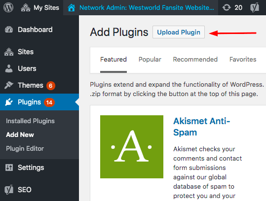 WordPress Backup Upload Plugin