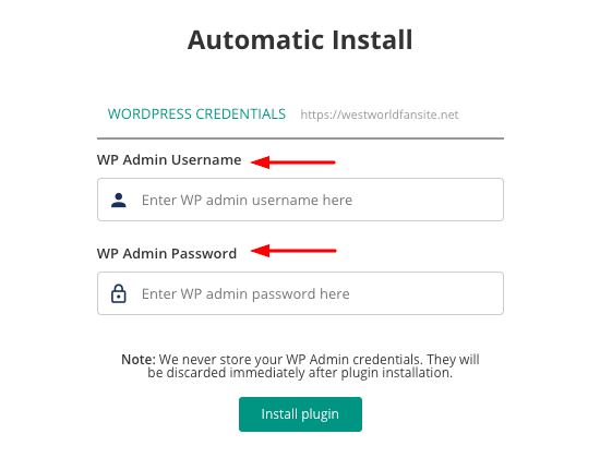 WordPress Backup Automatic Install