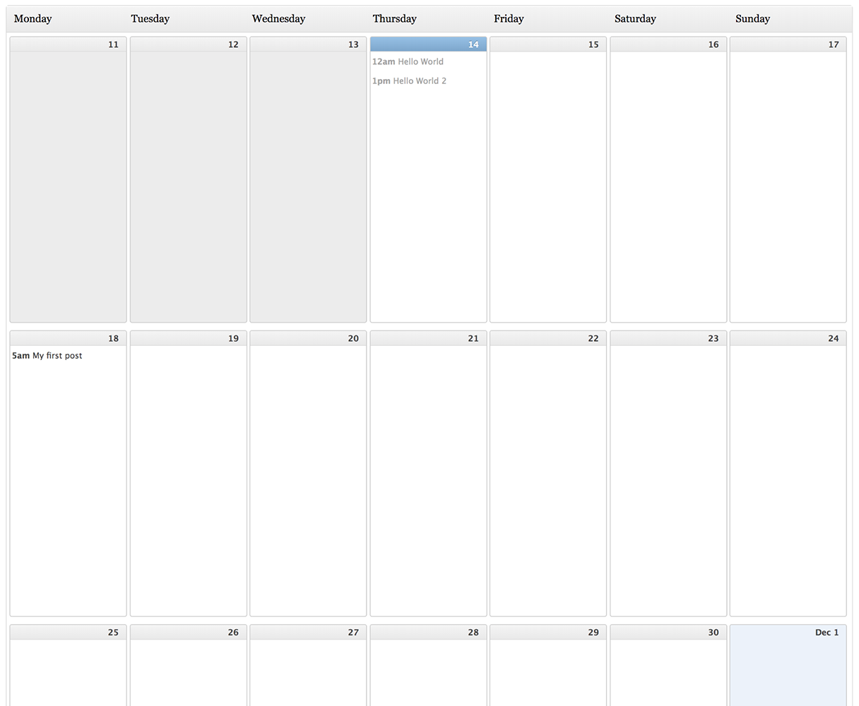 editorial calendar for your wordpress blog 1