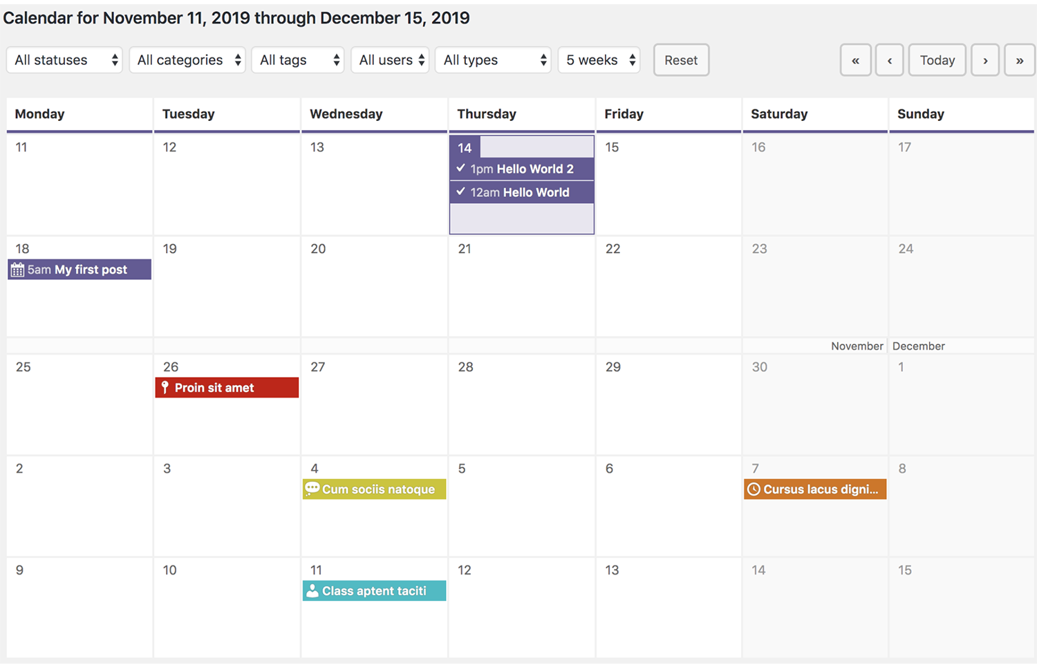 editorial calendar for your wordpress blog 4