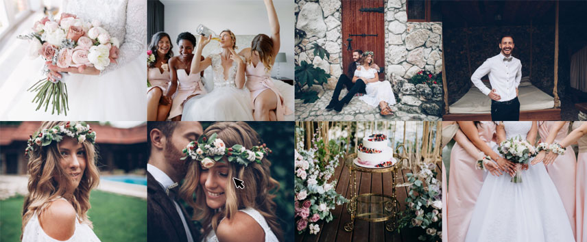 Elements for a wedding website- Instagram