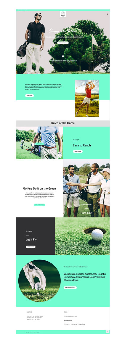 Color Golf Tips for your Next Sports Website