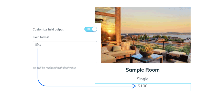Dynamic Hotel Website Dollar Sign