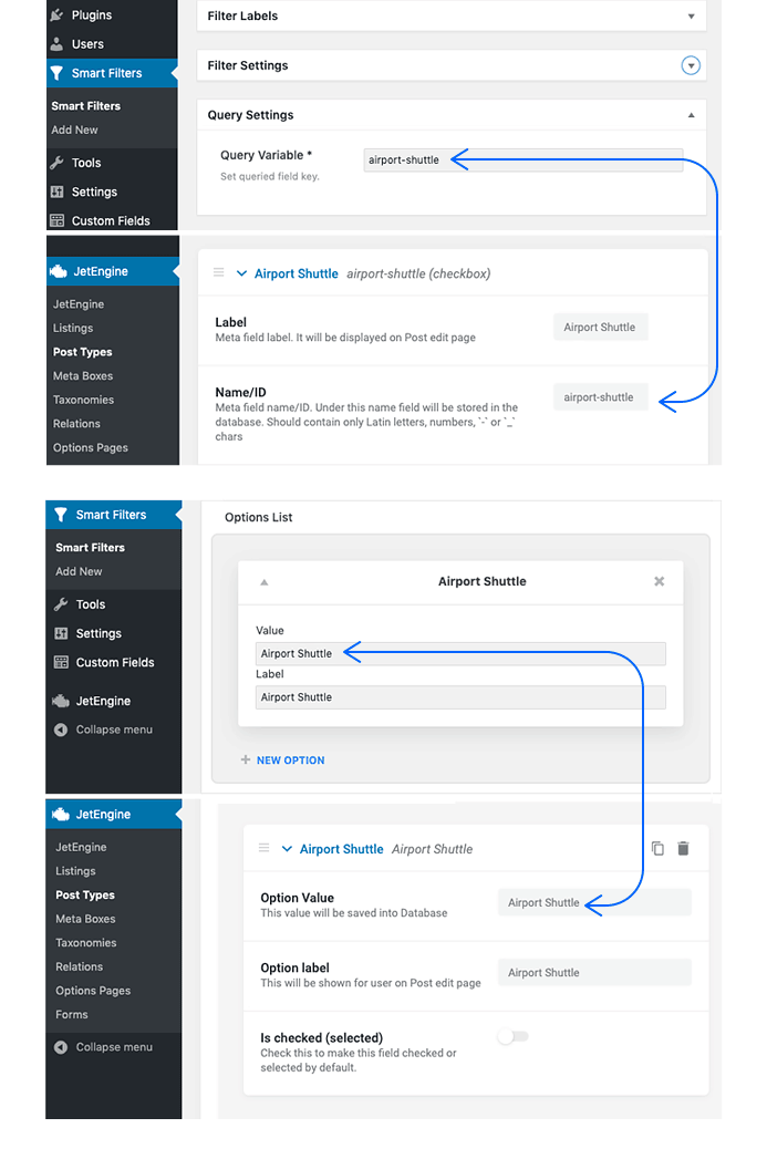 Dynamic Hotel Website Matching Values