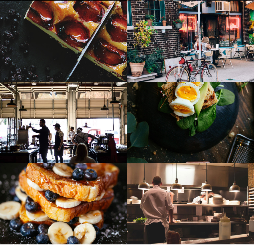 Elements for your restaurant website Images Layout Element