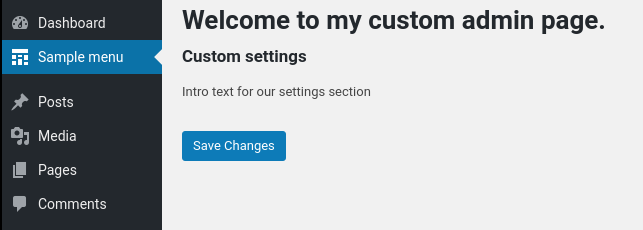 Custom Setting Page in WordPress 1