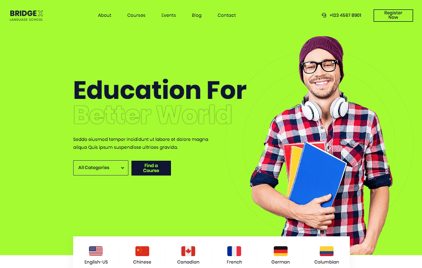 Building an education website Language School