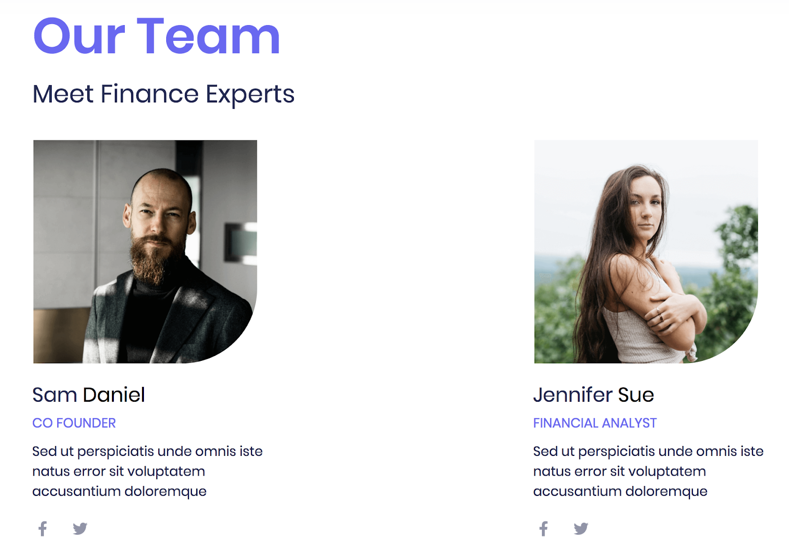creating a financial website - team