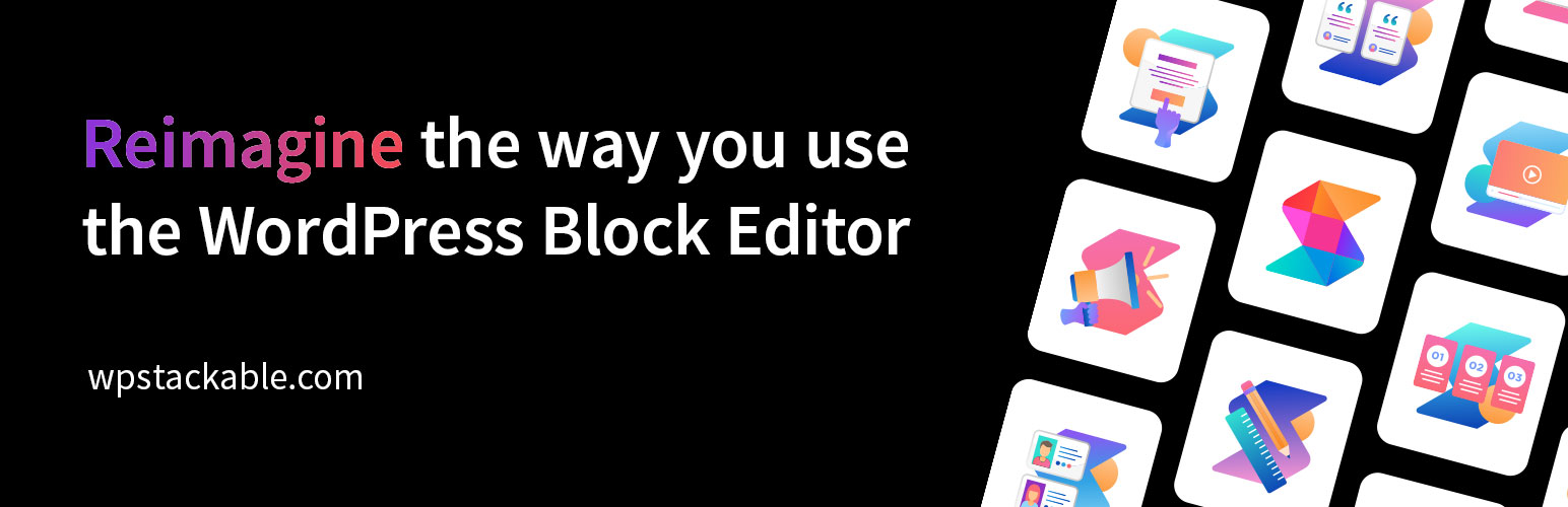 extend Gutenberg with free blocks - stackable