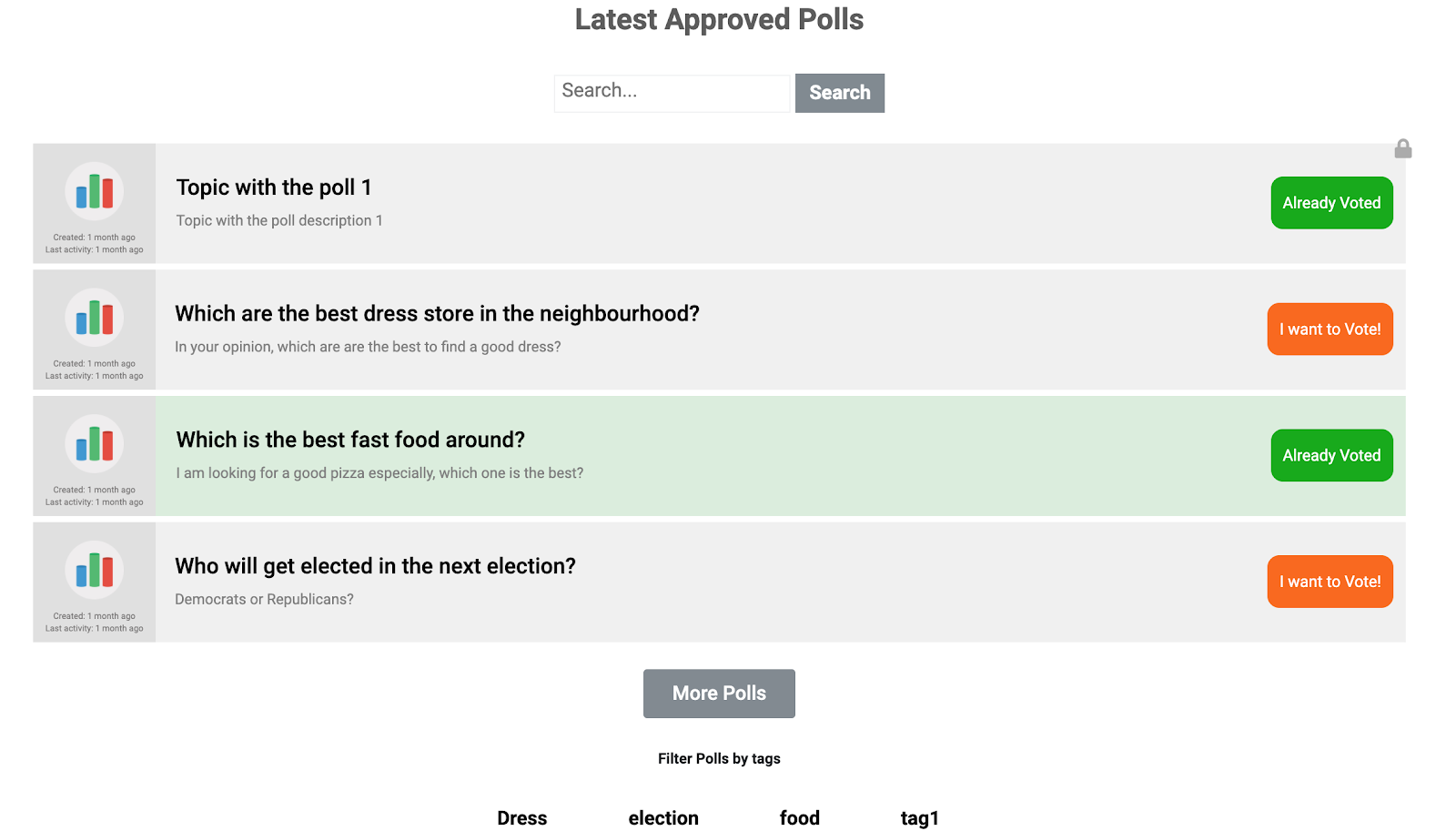 create a community poll website
