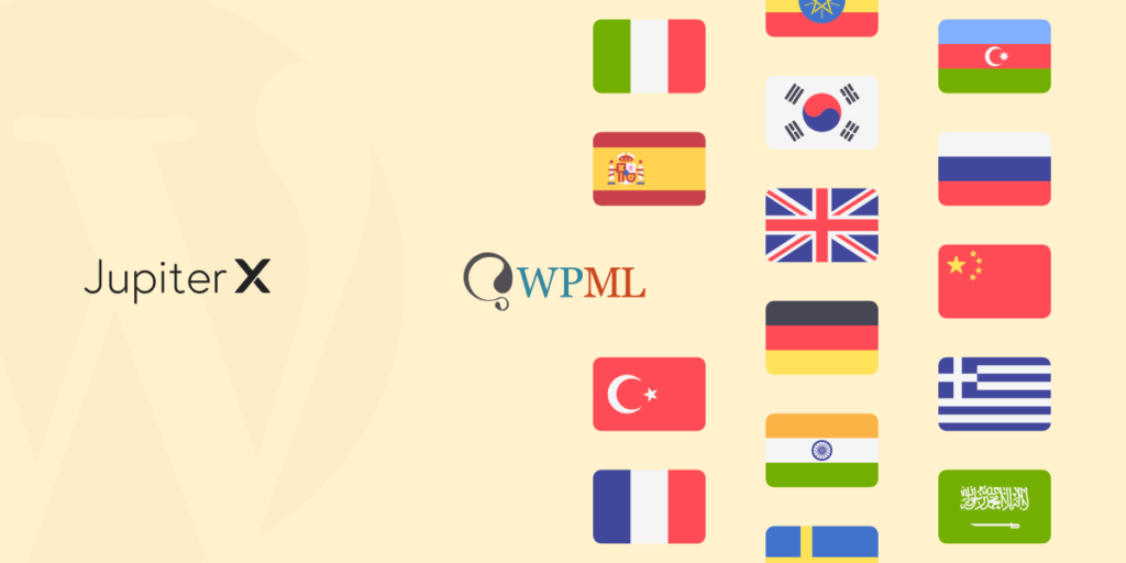 create a multilingual Jupiter X site featured