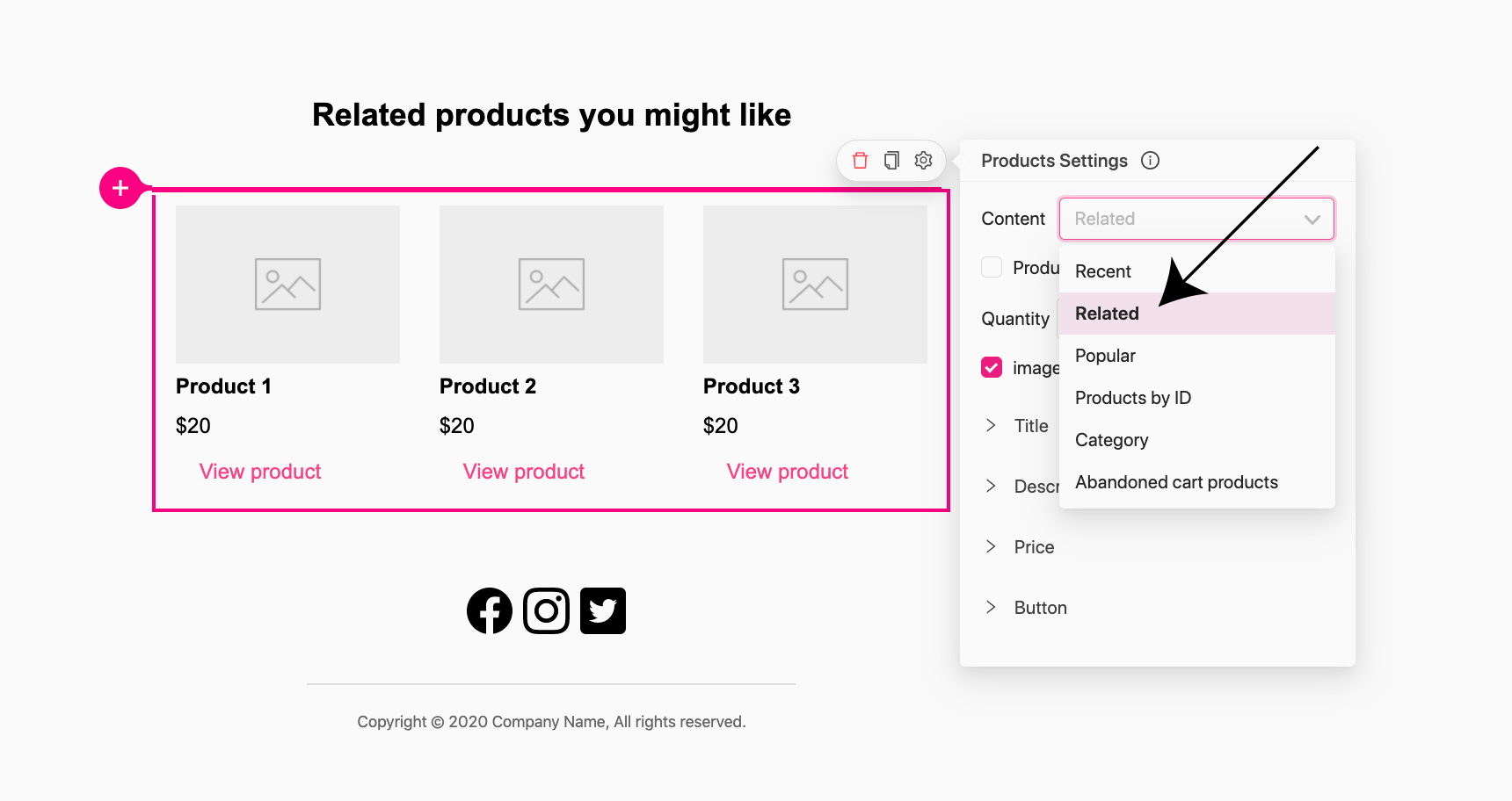 away customers in WooCommerce - related products