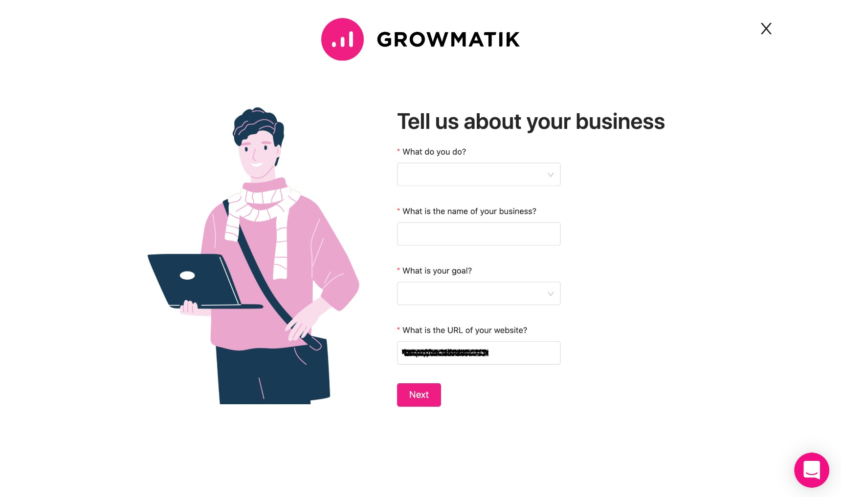 store Jupiter X form submissions - add website to growmatik